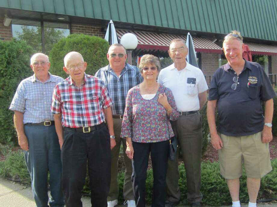 """SHENENDEHOWA HIGH CLASS OF '54 HOLDS MINI REUNION Clifton Park, Friday, September 14, 2012 By Don ? Red? Bassler Six students of the first Shenendehowa High School graduating class of 1954 met this afternoon at the Grecian Gardens in Clifton Park for a """"mini"""" reunion.   Clifton Park Plainsman, '54 graduate, Art """"Mole"""" Hayner arranged this reunion at the request of classmate Don """"Red"""" Bassler. Red was passing through on a vacation sweep of the East coast from Port Orchard, WA with his wife, Delourse.  Mole contacted as many local classmates that he knew of the total of 29 that graduated.  He acknowledged that about 10 of those had passed away.   They reminisced about their lives. Three were athletes; and talked about their spoiler role in baseball, by incurring Burnt Hills only loss in1954. Noted also was that at least 4 of them are military veterans. Above is an image of what they look like 58 years later!"""