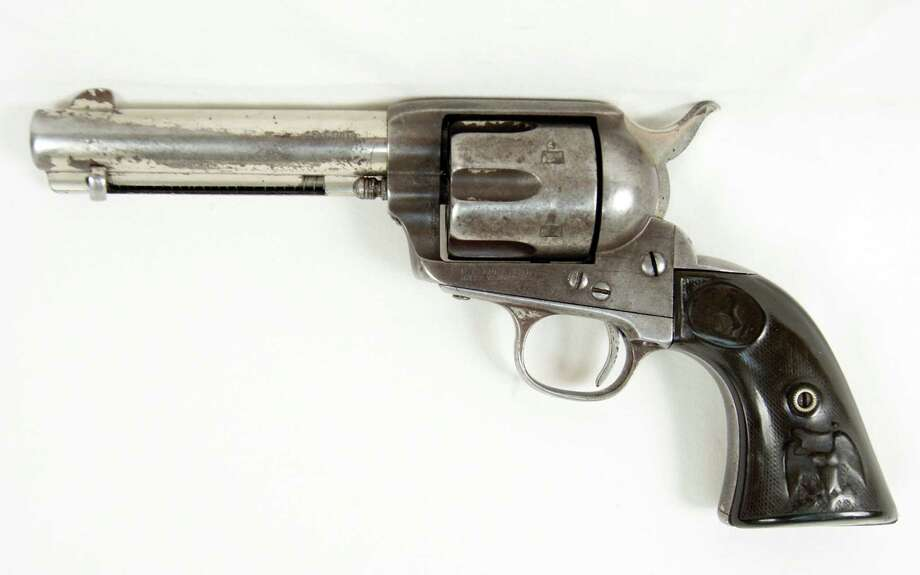 A Colt .45 revolver owned by Butch Cassidy, sold Sunday for $175,000 at a California auction. / RMK Services