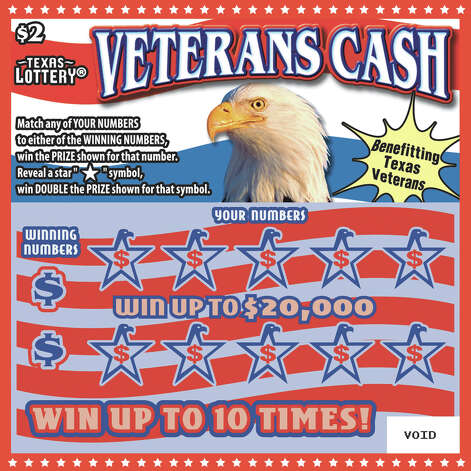 Veterans Cash scratch-off tickets