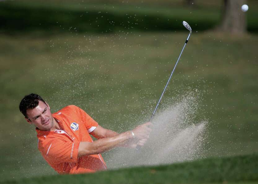 MEDINAH, IL - SEPTEMBER 25:  Martin Kaymer of Europe in action during the second preview day of The