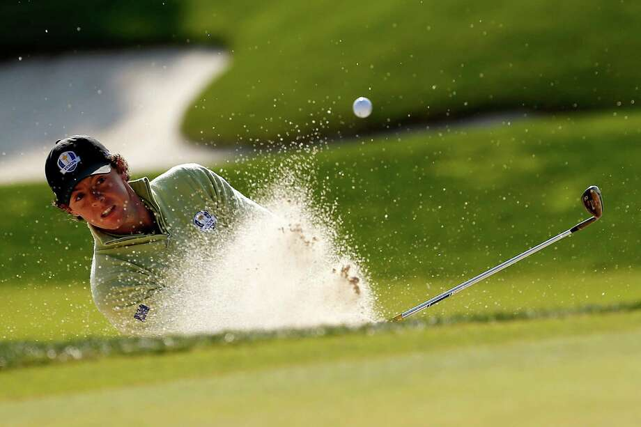 MEDINAH, IL - SEPTEMBER 28:  Rory McIlroy of Europe hits a shot onto the green on the 10th hole during the Morning Foursome Matches for The 39th Ryder Cup at Medinah Country Club on September 28, 2012 in Medinah, Illinois.  (Photo by Jamie Squire/Getty Images) *** BESTPIX *** Photo: Jamie Squire, Getty Images / 2012 Getty Images