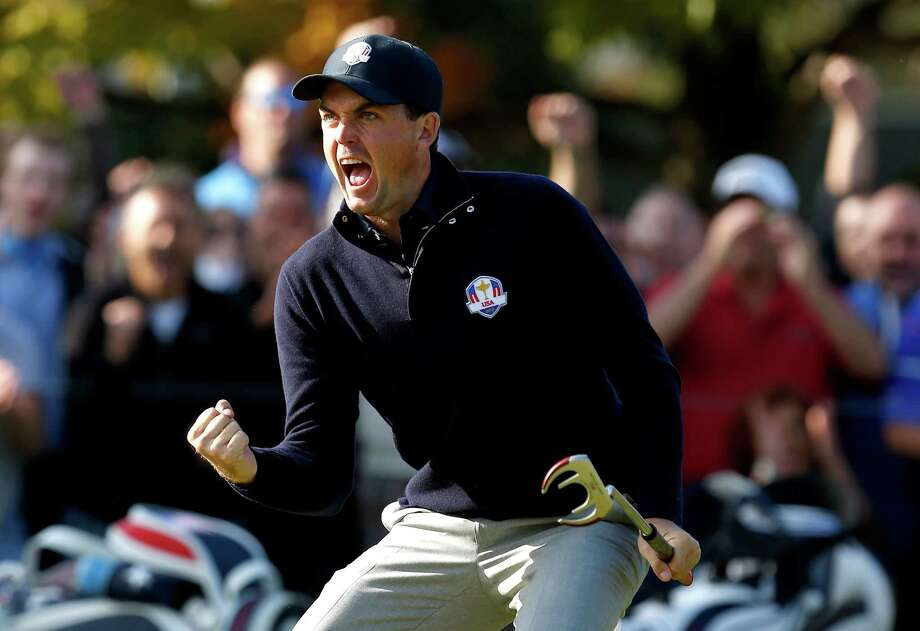 MEDINAH, IL - SEPTEMBER 29:  Keegan Bradley of the USA celebrates a birdie putt on the ninth green during day two of the Morning Foursome Matches for The 39th Ryder Cup at Medinah Country Club on September 29, 2012 in Medinah, Illinois.  (Photo by Jamie Squire/Getty Images) *** BESTPIX *** Photo: Jamie Squire, Getty Images / 2012 Getty Images