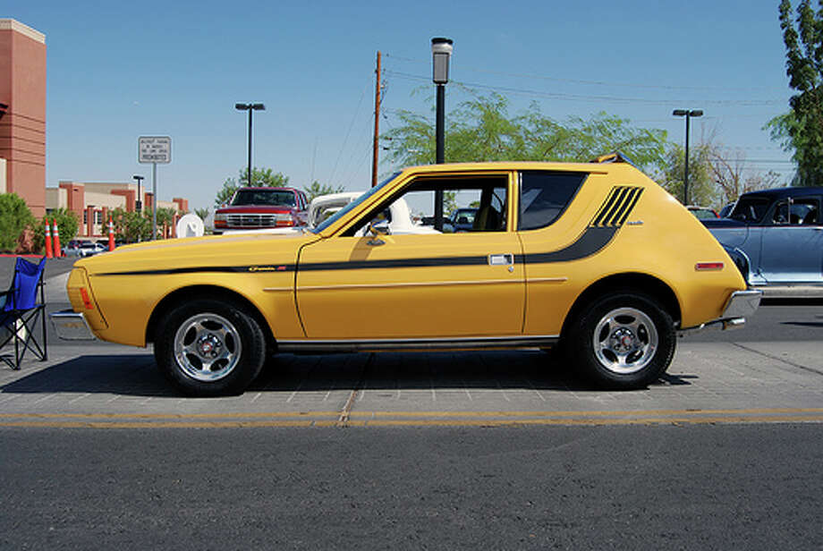 19. 1970 AMC Gremlin -- AMC had two failed experiments in the 1970s -- the Gremlin and Pacer. Both cars lacked performance and -- well -- had a strange style. (Photo: RoadSidePictures, Flickr)