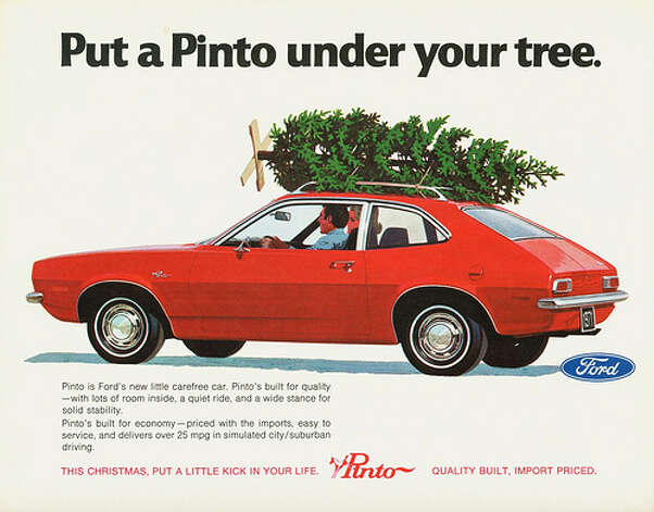 16. 1971 Ford Pinto -- Do you need a detailed reason? If you do, here it is: The Pinto turned out to be fire-proned due to its rear-mounted gas tank. (Photo: Aldenjewell, Flickr)