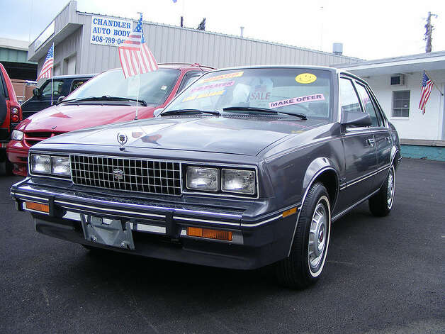 8. 1982 Cadillac Cimarron -- This was supposed to be a smaller and more athletic take on a Cadillac, but it turned out to be a pathetic concept. Popular Mechanics called it one of the 10 models that damaged GM's reputation. (Photo: Improbcat, Wikipedia)