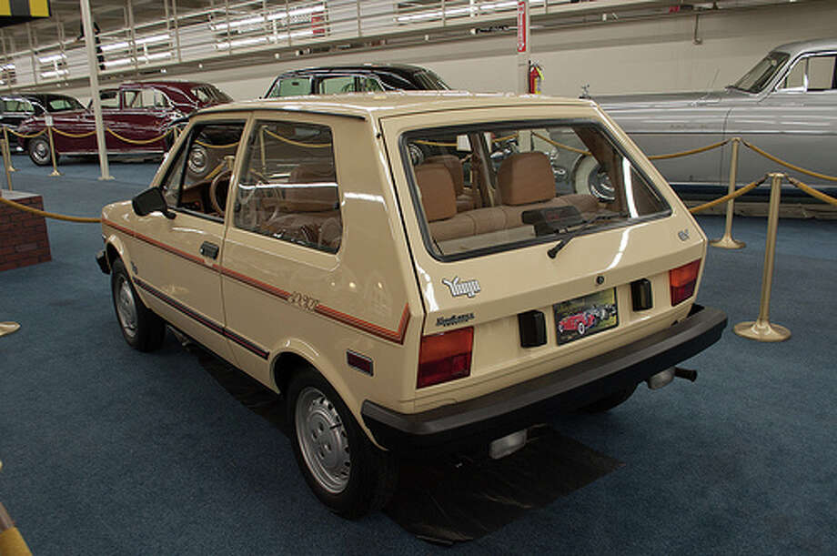 4. 1987 Yugo -- This car had a relatively low price, and its performance proved it was worth that low price. The car underperformed and wasn't the most stylish car. (Photo: InSapphoWeTrust, Flickr)