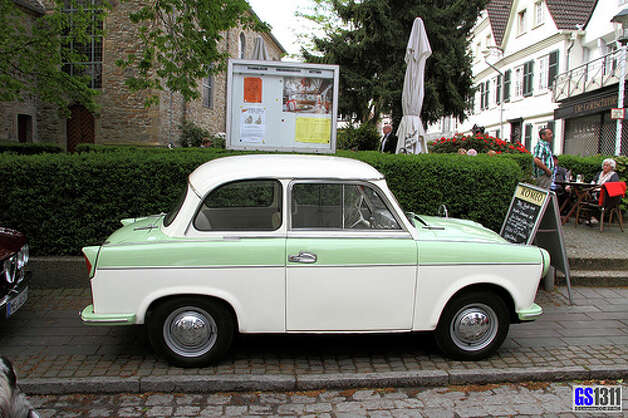 9. 1957 Trabant -- This was a car built to compete with the Volkswagen Beetle, but it failed to do that. This car was in production for 30 years, but it never mustered up anything special. (Photo: Georg Schwalbach, Flickr)