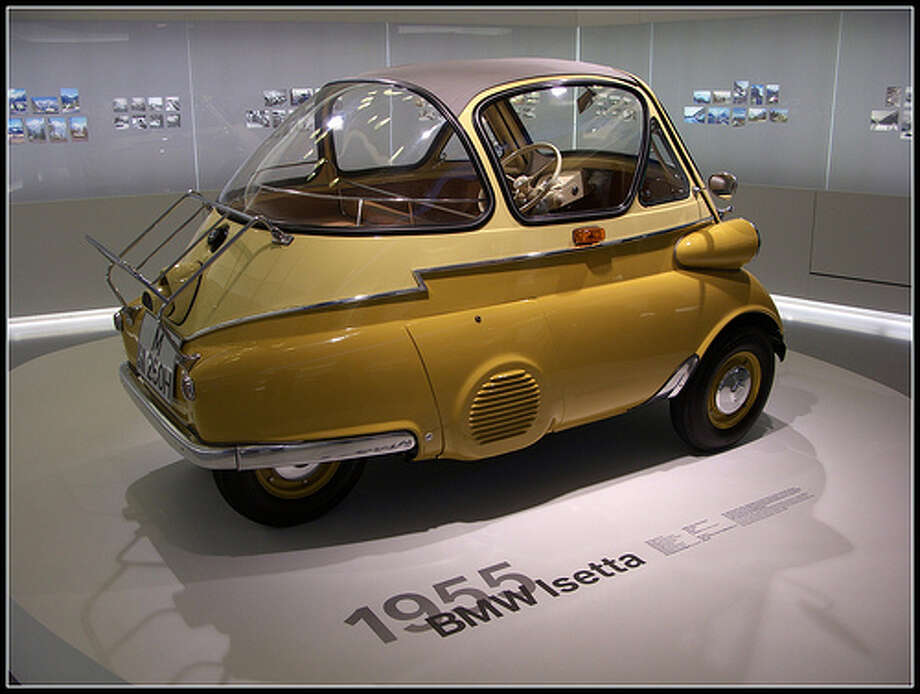 3. 1955 BMW Isetta -- The Isetta used a single-cylinder engine that pushed out a whopping 12 horsepower. To put that into perspective, the Budweiser clydesdales push out 8 horsepower. (Photo: Steinar Johnsen, Flickr)