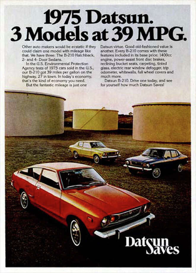 37. 1973 Datsun B210 -- So the photo is of a 1975 Datsun, but the car that caught the ire of car experts was the '73 model. The car won some fans because of the OPEC oil embargo, but its handling wasn't great. (Photo: Five Staff Photos, Flickr)