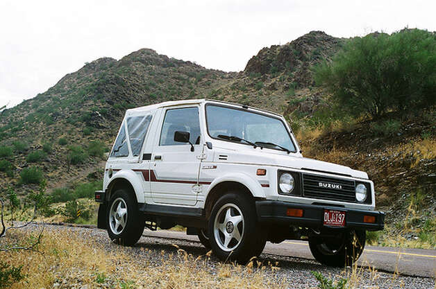 33. 1986 Suzuki Samurai -- Another awesome name for a car, but it didn't live up to its name. The car was built for off-road use, but it handled a bit oddly on the road. And let's not forget that it doesn't look great. (Photo: Encanto_Sunland, Flickr)