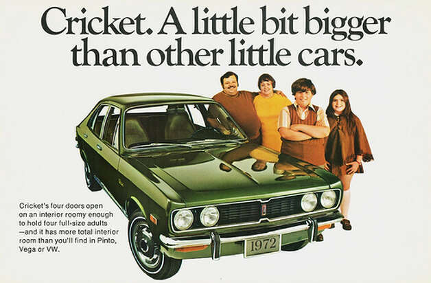 32. 1971 Plymouth Cricket -- The marketing was all about the size of the car, which isn't a great detail to highlight. On the road, its engine underperformed. You can see a funny video of the car here too.  (Photo: Aldenjewell, Flickr)