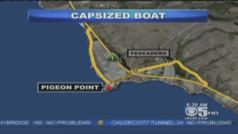 The search continued Monday morning for two missing fisherman off the San Mateo County coast. Photo: CBS San Francisco