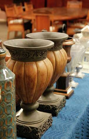 Home decor pieces, unknown value, are part of Stanford Financial Group's assets which will be auctioned in attempts to fundraise money to repay victims of imprisoned R. Allen's Stanford on Thursday, Sept. 27, 2012, in Houston. Photo: Mayra Beltran, Houston Chronicle / © 2012 Houston Chronicle