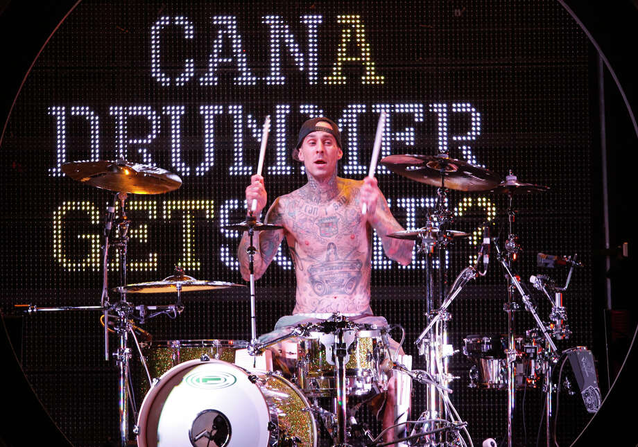 "Travis Barker went from vegetarian to ""almost"" a full vegan. Photo: Harry Scull, AP / THE BUFFALO NEWS"