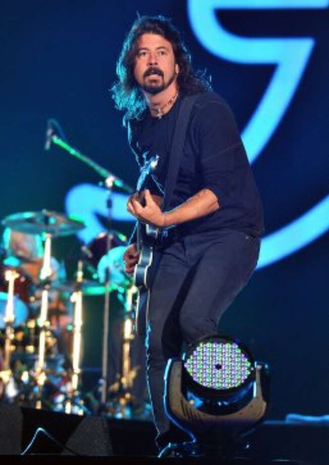 Dave Grohl of the Foo Fighters performs onstage at the Global Citizen Festival In Central Park To End Extreme Poverty - Show at Central Park on September 29, 2012 in New York City.