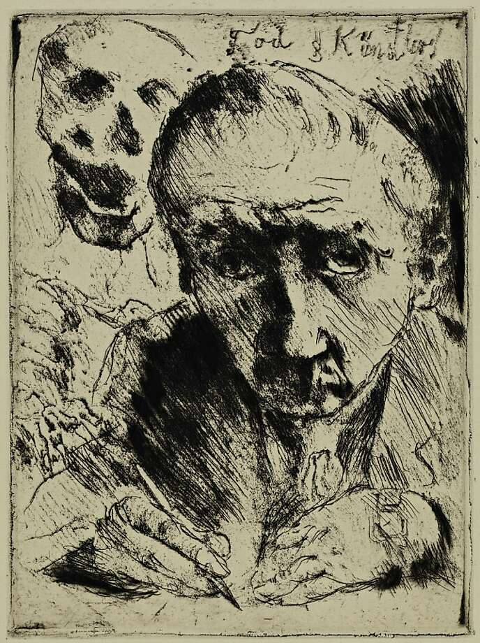 "Lovis Corinth's ""Death and the Artist"" (1921) is part of ""A War on Modern Art"" at Cantor Arts Center Photo: Cantor Arts Center"