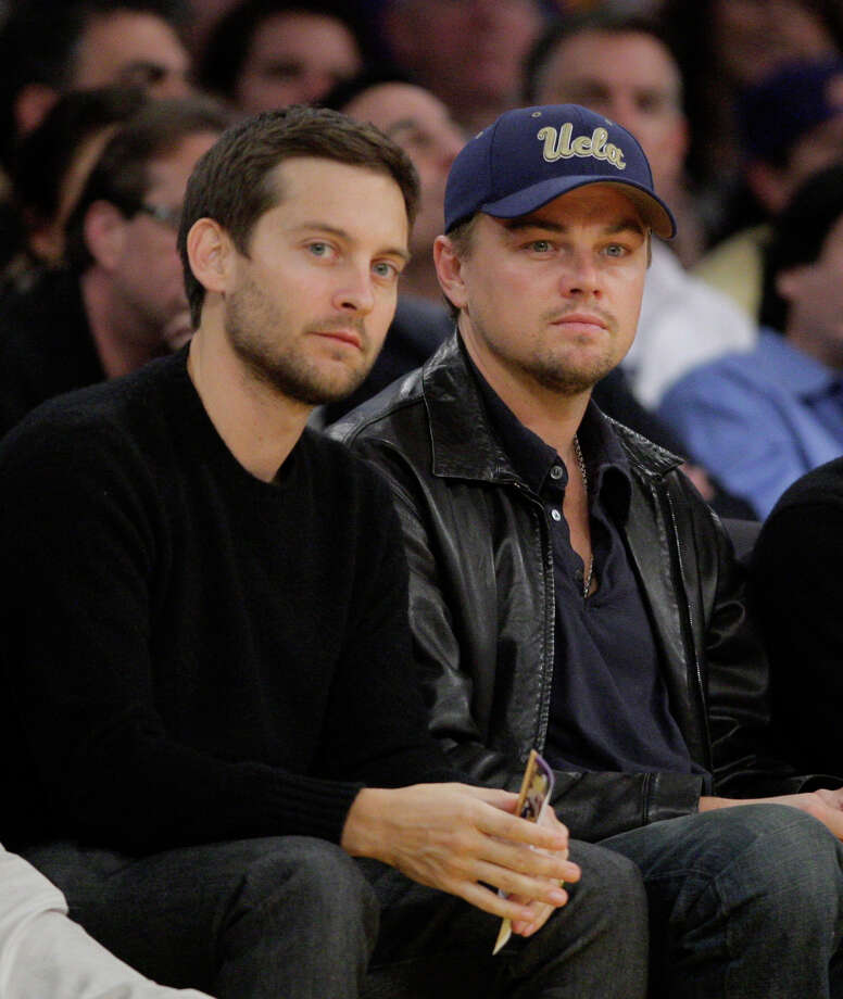 Actors Tobey Maguire (left) and Leonardo DiCaprio are among the stars participating in a public service announcement urging young voters to post tweets, photos and videos about concerns they think deserve presidential attention. Photo: Associated Press File Photo / AP