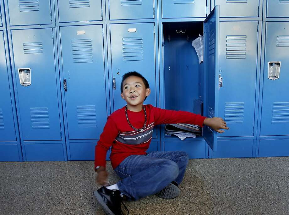 Patrick Liang, 11, a student at San Francisco's Children's Day School, is recovering from three recent head injuries. Photo: Brant Ward, The Chronicle