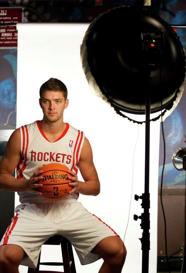 Houston Rockets forward Chandler Parsons poses for a portrait during Rockets Media Day Monday, Oct. 1, 2012, in Houston. Photo: Brett Coomer, Chronicle / © 2012 Houston Chronicle