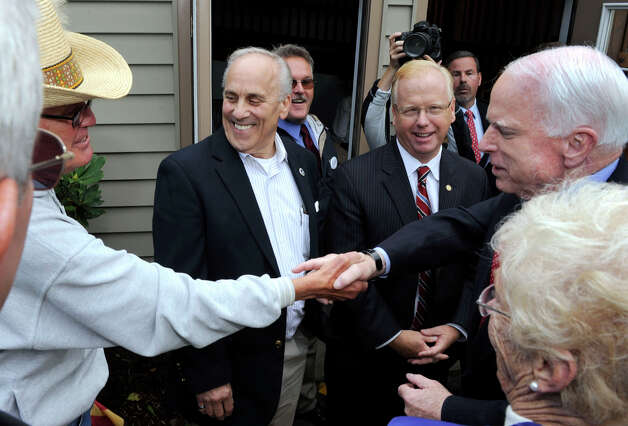 U.S. Senator John McCain, was in Danbury to campaign for Linda McMahon, at a joint appearance at the Disabled American Veterans Hall on Segar Street Monday, Oct. 1, 2012. Photo: Carol Kaliff