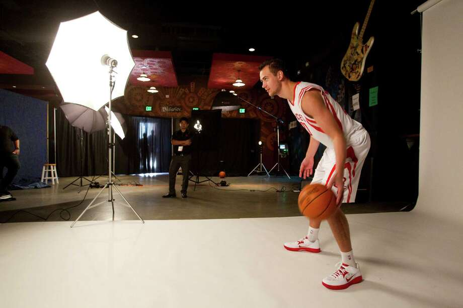 Houston Rockets forward Donatas Motiejunas poses for portraits during Rockets Media Day Monday, Oct. 1, 2012, in Houston. Photo: Brett Coomer, Chronicle / © 2012 Houston Chronicle
