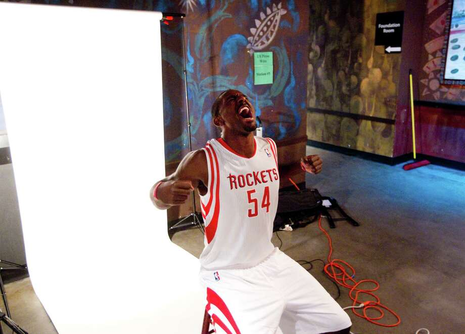 Houston Rockets forward Patrick Patterson poses for a portrait during Rockets Media Day Monday, Oct. 1, 2012, in Houston. Photo: Brett Coomer, Chronicle / © 2012 Houston Chronicle