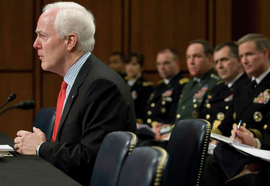 John Cornyn makes remarks at a hearing on the incidence and prevention of military suicides by the Personnel Subcommittee of the Senate Armed Services Committee in Washington, March 18, 2009. Photo: Jonathan Ernst, For The Chronicle / Freelance