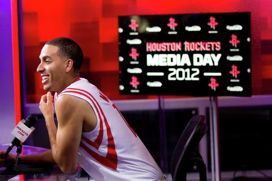 Houston Rockets guard Kevin Martin answers questions during Rockets Media Day Monday, Oct. 1, 2012, in Houston. Photo: Brett Coomer, Chronicle / © 2012 Houston Chronicle