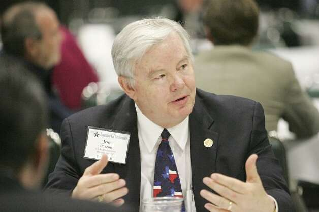 U.S. Rep. Joe Barton, R-Texas, is receiving the Hearst Energy Industry Advocacy award for his governmental service to the petroleum industry. (Cindeka Nealy / Midland Reporter-Telegram)