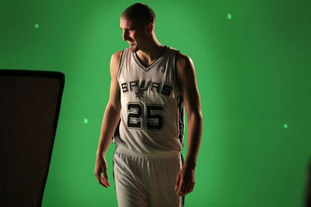 One of the San Antonio Spurs newest players is Nando De Colo from France.  Oct. 1, 2012. (San Antonio Express-News)