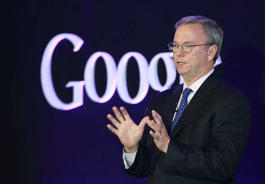 Eric Schmidt, Google executive chairman, leads the world's second-largest technology company. Photo: SeongJoon Cho, Bloomberg