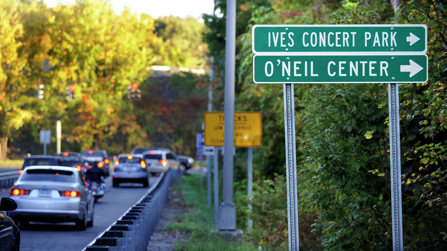 The sign for the O'Neill Center at Western Connecticut State University is misspelled at the I-84 West Exit 4 west off ramp, Monday, Oct. 1, 2012. Photo: Carol Kaliff