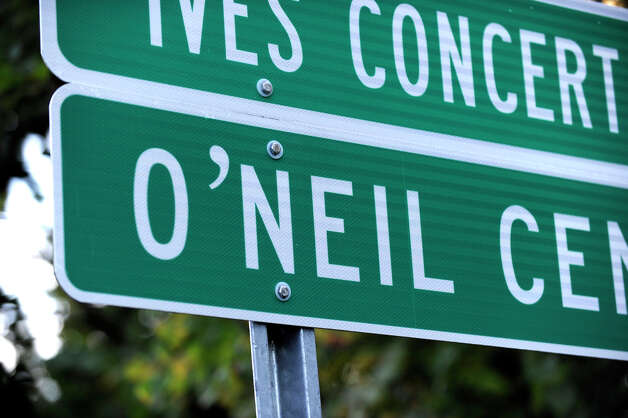 The sign for the O'Neill Center at Western Connecticut State University is misspelled at the I-84 West Exit 4 off ramp, Monday, Oct. 1, 2012. Photo: Carol Kaliff