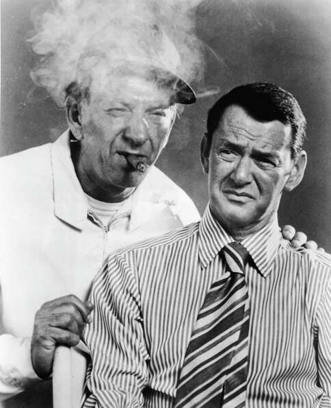1959: Co-host Tony Randall, pictured on right with Jack Klugman.
