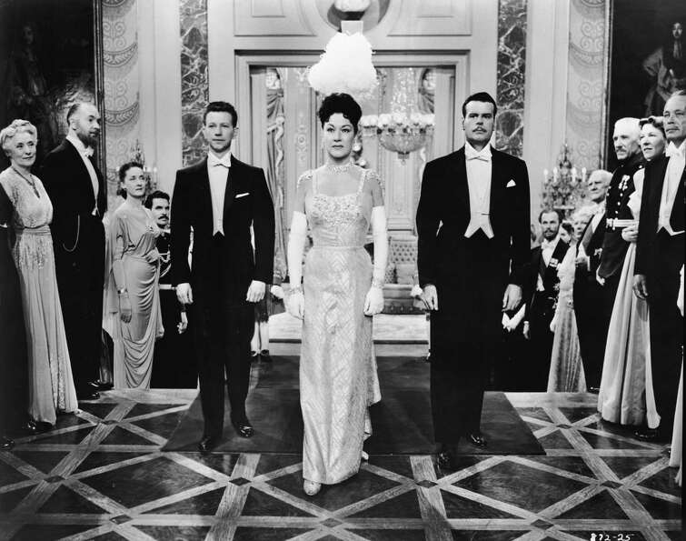 1954: Co-host Donald O'Connor, pictured above on the left with Ethel Merman and Billy DeWolfe.