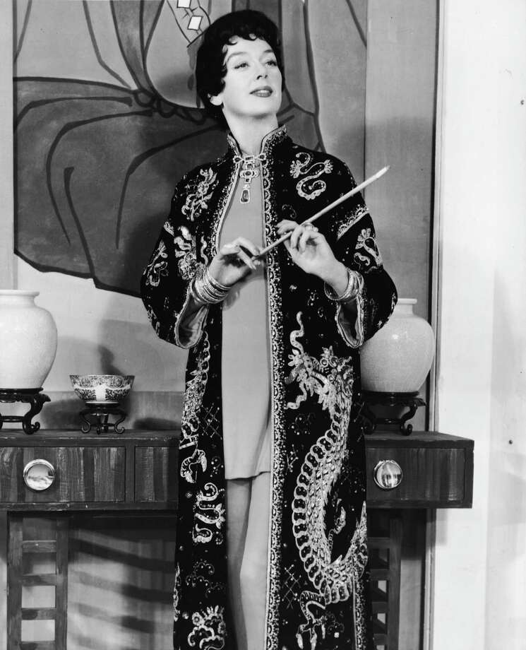 1958: Co-host Rosalind Russell Photo: Hulton Archive, Getty Images / 2004 Getty Images
