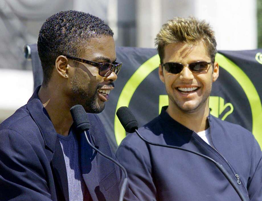 2005: Chris Rock, pictured with Ricky Martin. Photo: Getty Images