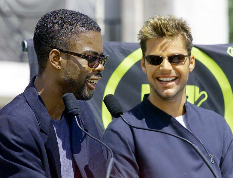 2005: Chris Rock, pictured with Ricky Martin.