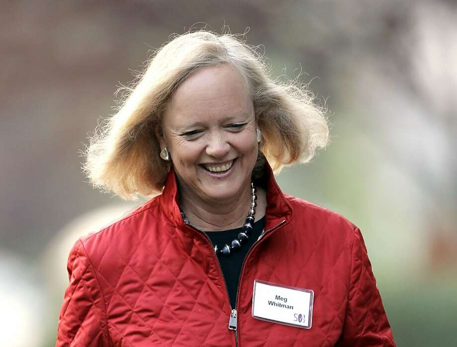 Hewlett Packard CEO Meg Whitman has announced layoffs and a consolidation of facilities, but what's her next move? Photo: Paul Sakuma, Associated Press