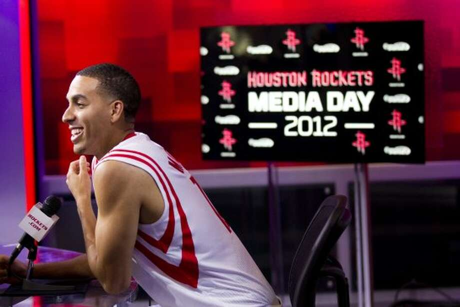 Houston Rockets guard Kevin Martin fields questions. (Brett Coomer / © 2012 Houston Chronicle)