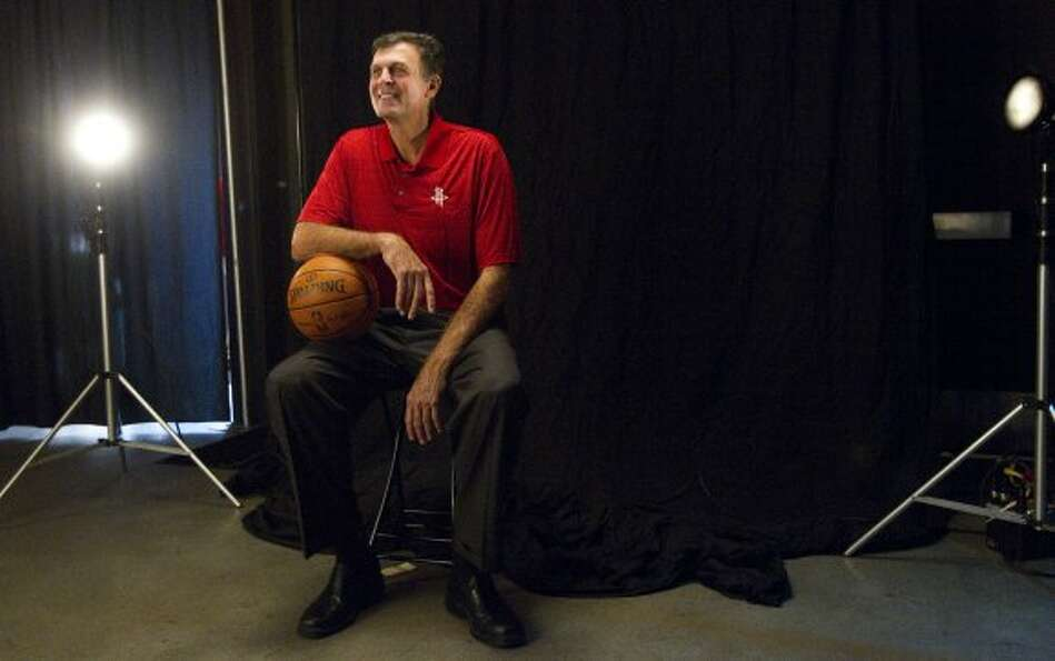 Rockets coach Kevin McHale poses for a portrait. (Brett Coomer / © 2012 Houston Chronicle)