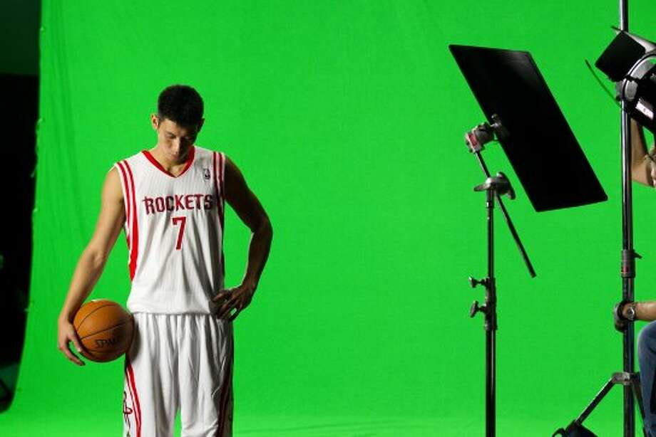 Rockets guard Jeremy Lin poses for a portrait. (Brett Coomer / © 2012 Houston Chronicle)