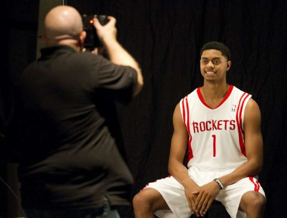 Rockets rookie guard Jeremy Lamb poses for a portrait. (Brett Coomer / © 2012 Houston Chronicle)
