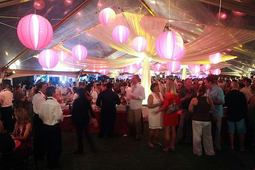 Guests, winemakers and chefs mingle at the 2012 Kapalua Wine and Food Festival at the Ritz-Carlton's