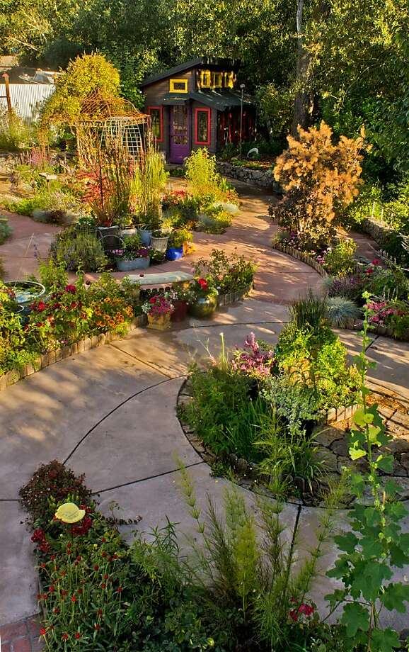"The ""listening-path labyrinth"" in the Graton garden of HolLynn D'Lil features a theme for each loop. Photo: Alvin Jornada, Special To The Chronicle"
