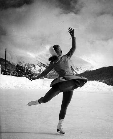 Barbara Ann Scott became Canada's only Olympic gold medalist in women's figure skating when she finished first in St. Moritz, Switzerland, in 1948. Photo: Uncredited, Associated Press