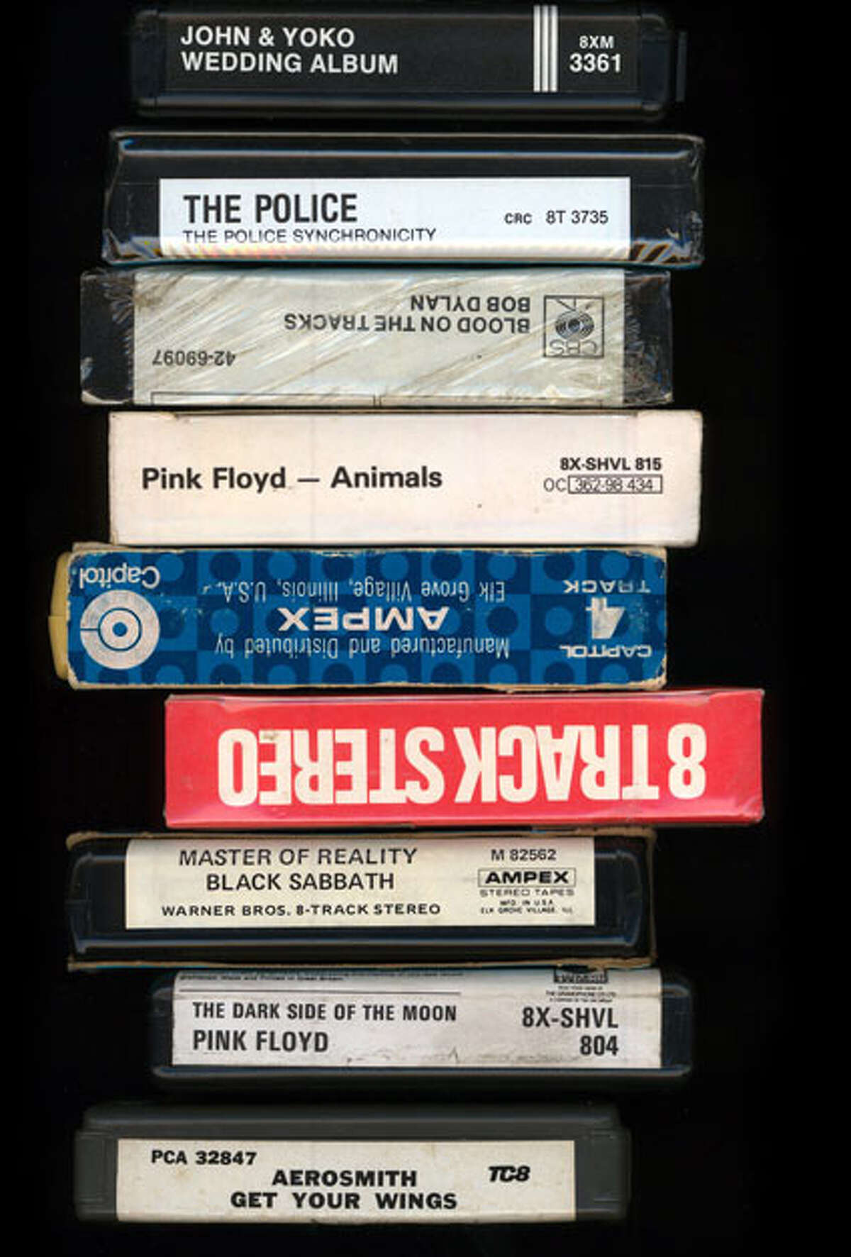 A collection of 8-track tapes. (eighttrackmuseum.com)