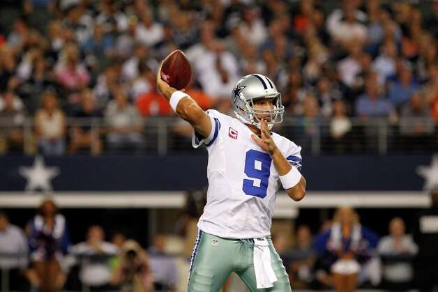 Dallas Cowboys' Tony Romo (9) passes against the Chicago Bears in an NFL football game Monday, Oct. 1, 2012, in Arlington, Texas. (AP Photo/LM Otero) Photo: LM Otero, Associated Press / AP