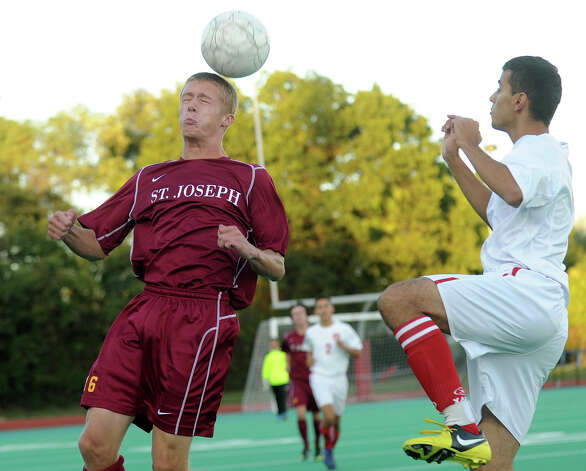 Central v. St. Joseph boys soccer at Central High School in Bridgeport on Monday, October 1, 2012. Photo: Brian A. Pounds / Connecticut Post