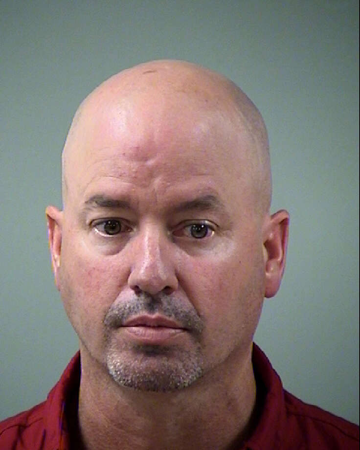 Kevin Lee Cyrus, 46, is accused of driving with a blood alcohol level over 0.15 early Saturday, when he was found asleep in his pickup near the San Antonio International Airport. Photo courtesy of Bexar County Sheriff's Office. Photo: Courtesy Photo